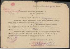 Pismo - Kierownik Ekspedycji Towarowej w Bydgoszczy