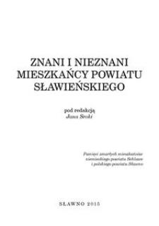 Znani i nieznani mieszkańcy powiatu sławieńskiego