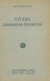 Studja geograficzno-historyczne