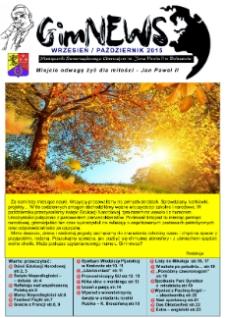 GimNEWS. Miesięcznik Samorządowego Gimnazjum im. Jana Pawła II w Bolszewie, 2015, wrzesień/październik [listopad]