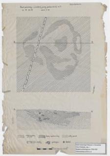 Koszalin - Góra Chełmska, stanowisko 1. Rzut poziomy i przekrój jamy paleniskowej nr 1 ar 13 ćw B