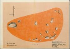 Jabłończ Wielki, stanowisko 1. Kurhan 5. Układ kamieni na spagu w-wy II