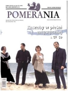 Pomerania : miesięcznik społeczno-kulturalny, 2015, nr 9