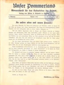 Unser Pommerland : Monatsschrift für das Kulturleben der Heimat, 1921