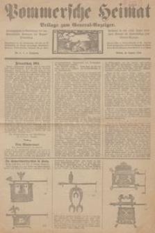 Pommersche Heimat. Beilage zum General-Anzeiger, 1914, Nr. 1