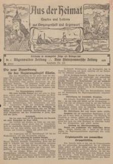 Aus der Heimat. Ernstes und Heiteres aus Vergangenheit und Gegenwart, 1928, Nr. [3]