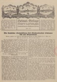 Heimat-Beilage (Mitteilungsblatt der Pommerschen Arbeitsgemeinschaft der Deutschen Heimathochschule). Sonderbeilage der Pollnower Zeitung