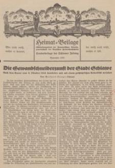 Heimat-Beilage (Mitteilungsblatt der Pommerschen Arbeitsgemeinschaft der Deutschen Heimathochschule). Sonderbeilage der Schlawer Zeitung