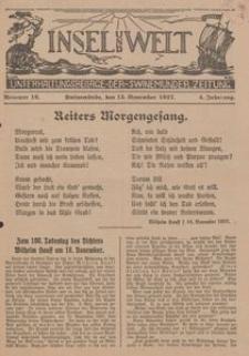 Insel und Welt. Unterhaltungsbeilage der Swinemünder Zeitung, 1927, Nr. 16