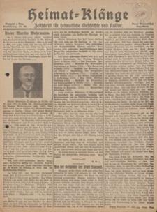 Heimat-Klänge. Zeitschrift für heimatliche Geschichte und Kultur, 1926, Nr. 92
