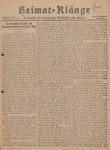 Heimat-Klänge. Zeitschrift für heimatliche Geschichte und Kultur, 1929, Nr. 151