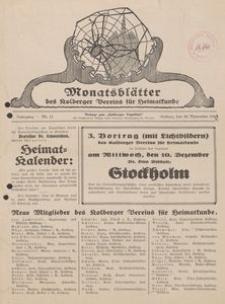 Monatsblätter des Kolberger Vereins für Heimatkunde, 1930, Nr. 11
