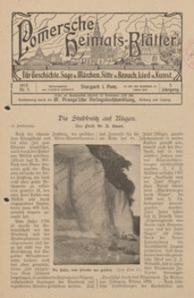 Pommersche Heimats-Blätter für Geschichte, Sage, u. Märchen, Sitte u. Brauch, Lied u. Kunst, 1912, No. 5