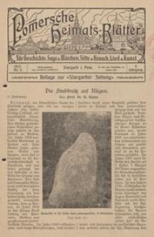 Pommersche Heimats-Blätter für Geschichte, Sage, u. Märchen, Sitte u. Brauch, Lied u. Kunst, 1912, No. 6