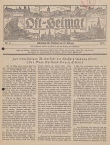 Ost-Heimat. Beilage zum Geselligen, 1928, Nr. 4