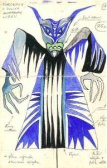 Czarownica z Doliny Lodów - projekt scenografii do bajki Czarodziej z ziemi Oz