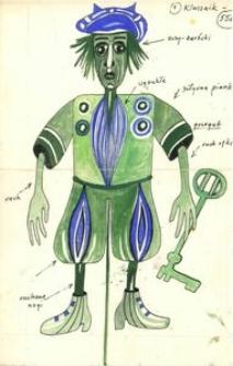 Klucznik 1 - projekt scenografii do bajki Czarodziej z ziemi Oz