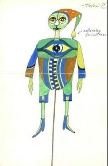 Mlaskal - projekt scenografii do bajki Czarodziej z ziemi Oz