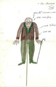 Oz Staruszek - projekt scenografii do bajki Czarodziej z ziemi Oz