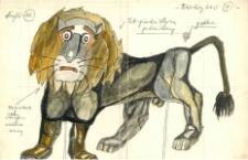 Tchórzliwy lew - projekt scenografii do bajki Czarodziej z ziemi Oz