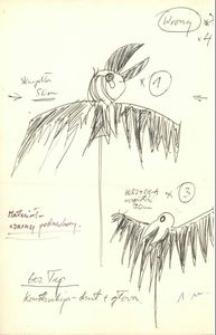 Wrony - projekt scenografii do bajki Czarodziej z ziemi Oz
