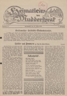 Heimatleiw un Muddersprak. Greifswalder Geschichts-Wochenkalender, 1928, Nr. 11