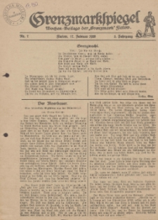 """Grenzmarkspiegel. Wochen-Beilage der """"Grenzmark"""" Flatow, 1928, Nr. 7"""