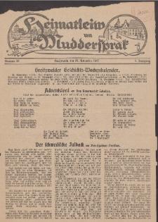 Heimatleiw un Muddersprak. Greifswalder Geschichts-Wochenkalender, 1927, Nr. 48