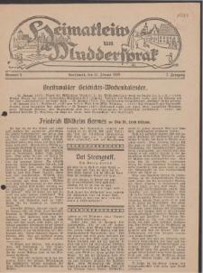 Heimatleiw un Muddersprak. Greifswalder Geschichts-Wochenkalender, 1928, Nr. 4