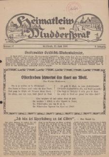 Heimatleiw un Muddersprak. Greifswalder Geschichts-Wochenkalender, 1930, Nr. 17