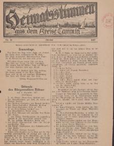 Heimatsstimmen aus dem Kreise Cammin, 1927, Nr. 10
