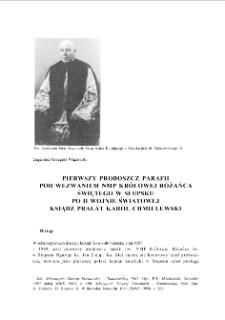 Pierwszy proboszcz parafii pod wezwaniem NMP Królowej Różanca Świętego w Słupsku po II wojnie światowej ksiądz Karol Chmielewski