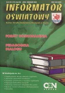 Informator Oświatowy, 2003, nr 4