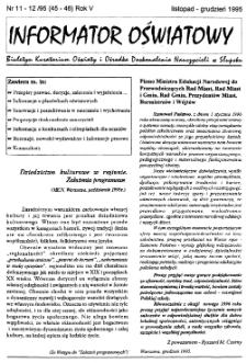 Informator Oświatowy, 1995, nr 11/12