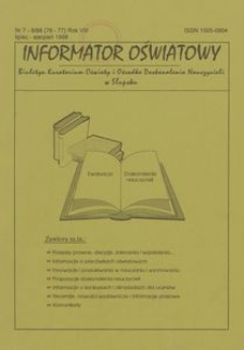 Informator Oświatowy, 1998, nr 7/8