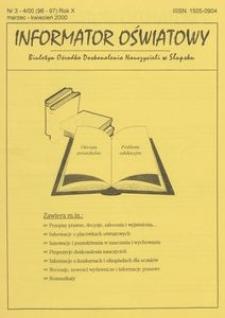 Informator Oświatowy, 2000, nr 3/4
