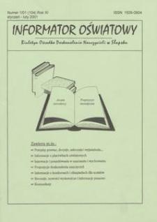 Informator Oświatowy, 2001, nr 1