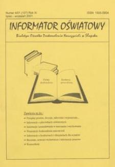 Informator Oświatowy, 2001, nr 4