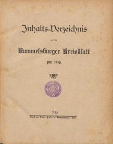 Rummelsburger Kreisblatt pro 1910