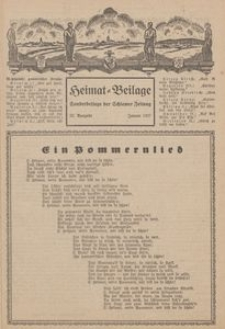 Heimat-Beilage, 22. Ausgabe