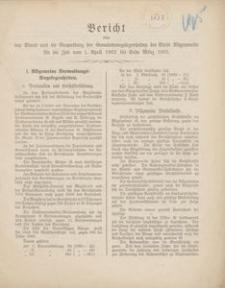 Bericht über den Stand und die Verwaltung der Gemeindeangelegenheiten der Stadt Rügenwalde für die Zeit vom 1. April 1902 bis Ende März 1903