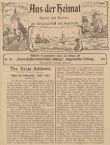 Aus der Heimat. Ernstes und Heiteres aus Vergangenheit und Gegenwart, 1911, Nr. 19