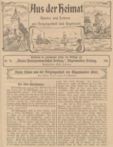 Aus der Heimat. Ernstes und Heiteres aus Vergangenheit und Gegenwart, 1911, Nr. 20