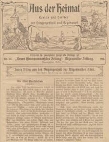 Aus der Heimat. Ernstes und Heiteres aus Vergangenheit und Gegenwart, 1911, Nr. 22