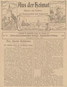 Aus der Heimat. Ernstes und Heiteres aus Vergangenheit und Gegenwart, 1911, Nr. 25