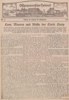 Ostpommersche Heimat. Beilage der Zeitung für Ostpommern, 1934, Nr. 11