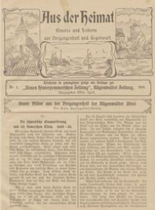 Aus der Heimat. Ernstes und Heiteres aus Vergangenheit und Gegenwart, 1910, Nr. 7