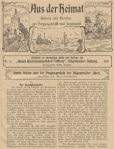 Aus der Heimat. Ernstes und Heiteres aus Vergangenheit und Gegenwart, 1910, Nr. 12