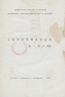Informator, 1992, nr 8/9