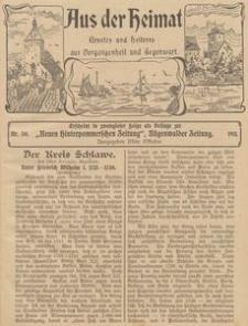 Aus der Heimat. Ernstes und Heiteres aus Vergangenheit und Gegenwart, 1911, Nr. 30